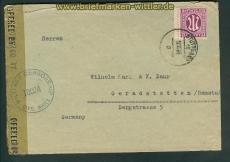 all. Besetz. Bi-Zone Zensurbrief Stuttgart 1945 (26154)