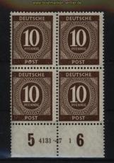 all. Besetzung Mi # 918 postfrischer 4er-Block mit HAN 4131.47 1 (29112)