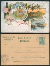 Gruss vom Drachenfels Litho-AK Hotel Drachenfels 1902 (d5336)