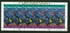 UNO New York Mi # 627/28 im Zusammendruckbogen postfrisch Saubere Meere (34893)