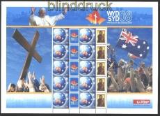 Australien Mi # 2197 Weltjugendtag 2008 ** Kleinbogen im Folder (29869)
