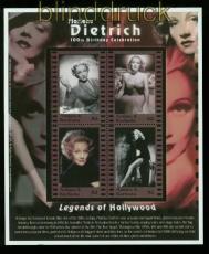 Antigua und Barbuda Mi # 3535/38 postfrischer Kleinbogen Marlene Dietrich (35531)