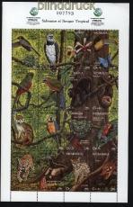 Nicaragua Mi # 3167/3182 Zdr.-Bogen Tiere postfrisch (29017)