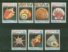 Nicaragua Mi # 2887/93 Muscheln und Meerestiere postfrisch (34867)