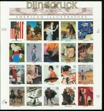 USA Mi # 3405/24 postfrisch Zusammendruckbogen Amerikanische Illustrationen (35266)