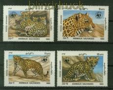 Afghanistan Mi # 1453/56 WWF Leopard postfrisch (41421)