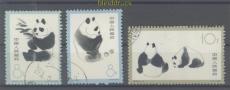 China Mi # 736/38 gestempelt Großer Panda (44861)