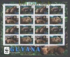 Guyana 2011 WWF Waldhund postfrischer Kleinbogen (29796)
