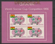 Ghana Mi. # Block 45 postfrisch Fußball-WM 1966