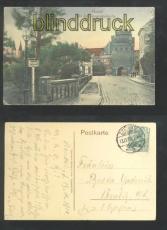 STENDAL farb-AK vor dem Tangermünder Tor 1910 (d6891)