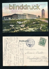 BROCKEN farb-AK BrockenHotel berühmte Brockenbesteigungen 1906 (d7268)