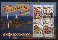 Jersey Mi # Block 5 postfrisch Tourismus (33061)