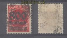 dt. Reich Mi # 303 Aufdruckmarke gestempelt geprüft Infla Berlin (46010)