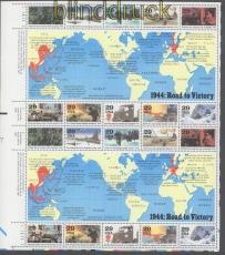 USA Mi # Block 34 postfrisch Geschichte des zweiten Weltkriegs (46322)