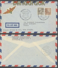 Dänemark SAS Erstflug 24.2.1957 nach Tokio über den Nordpol (46485)