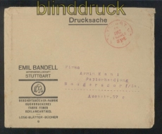 dt. Reich Gebühr bezahlt Stuttgart Franco-Stempel 1923 (46553)