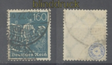 dt. Reich Mi # 190 gestempelt 160 Pfg. Schnitter Wz. 2 gprüft Infla Berli(46619)