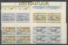 Tschechoslowakei Mi # 1755/60 postfrisch Flugzeuge im 4er-Block (47072)