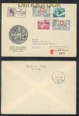 Schweiz R-Brief Automobil-Postbureau 1953 Mi # 580 (2), 581 und 582 (47167)