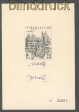 Tschechoslowakei Mi # 1744 Schwarzdruck mit Unterschriften Praga 1968 (47182)