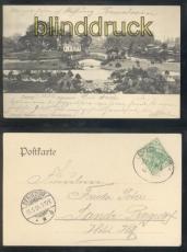 Leipzig sw-AK Palmengarten Bahnpost 1904  (d7901)