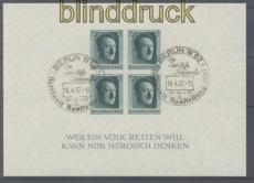 dt. Reich Mi # Block  8 gestempelt 48. Geburtstag (48002)