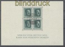 dt. Reich Mi # Block  7 gestempelt 5.4.1937 vom Ersttag 48. Geburtstag (48003)