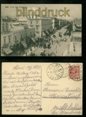 Italien Bari sw-AK Corsa Vitt. Emanuele 1911 nach Hamburg (a2249)