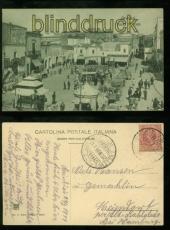 Italien Brindisi sw-AK Piazza Mercato 1911 nach Hamburg (a2250)