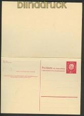 Bund Ganzsachenkarte GSK P 40 ungebraucht 30,00€(20418)
