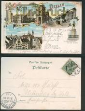 Dessau farb-Litho-AK 3 Ansichten 1900 (d4818)