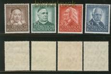 Bund Mi #  173/76 postfrisch Helfer der Menschheit 1953 (25591)
