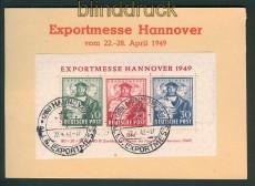 Bi-Zone Mi # Block 1 a Hannover-Messeblock SSt. auf Messe-Sonderkarte  (27207)