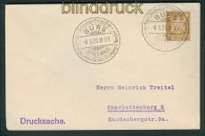 dt. Reich Privat-Umschlag PU 99 A 1 gestempelt SSr. BURG 8.5.1925 (27376)