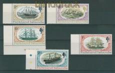 Falkland-Inseln Mi # 187/91 Schiffe postfrisch (27647)