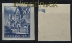 franz. Zone Rheinland-Pfalz Mi # 11 U postfrisch (28060)