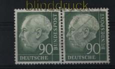 Bund Mi #  193 gestempelt waagerechtes Paar 90 Pfg. Heuss I (28142)