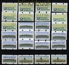 Bund ATM kleines Lot postfrischer Besonderheiten Leerfelder, Fehldrucke usw. (28231)