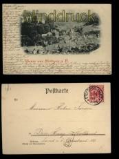 Gruss aus Stolberg a. H. sw-AK Panoramaansicht 1898 (d5528)