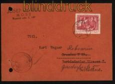 CSSR Auslands-Zensur-Karte Most 1949 (29427)