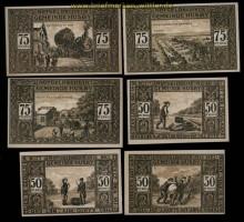 Husby 50 und 75 Pfennig Notgeld Serie von 6 Scheinen kassenfrisch (30632)