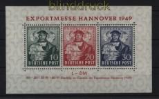 Bi-Zone Mi # Block 1 a Hannover Messeblock postfrisch (31360)