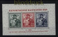 Bi-Zone Mi # Block 1 a Hannover Messeblock postfrisch (32418)