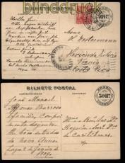 Brasilien 2 alte Ganzsachenkarten GSK 1908 gelaufen (32326)