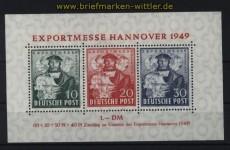 Bi-Zone Mi # Block 1 a Hannover Messeblock postfrisch (32923)