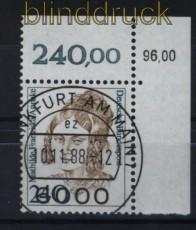 Bund Mi # 1392 Frauen 240 Pfg. mit KBWZ Frankfurt (34104)