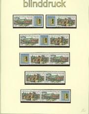 DDR Zusammendrucke Mi # 3173/76 postfrisch WZd 747/58 Briefmarkenausstellung (34344)
