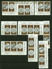 DDR Zusammendrucke Mi # 3215/20 postfrisch WZd 773 - SZd 361 Klöppelspitze (34341)