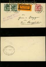 dt. Reich Mi # 378 und 379 auf Luftpost-Drucksachenbrief nach Zoppot 1926 (40195)