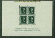 dt. Reich Mi # Block  7 postfrisch 48. Geburtstag (41047)
